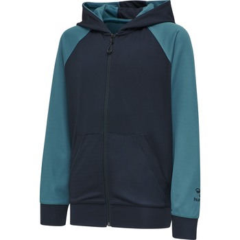 hmlACTION ZIP HOODIE KIDS, DARK SAPPHIRE/BLUE CORAL, packshot