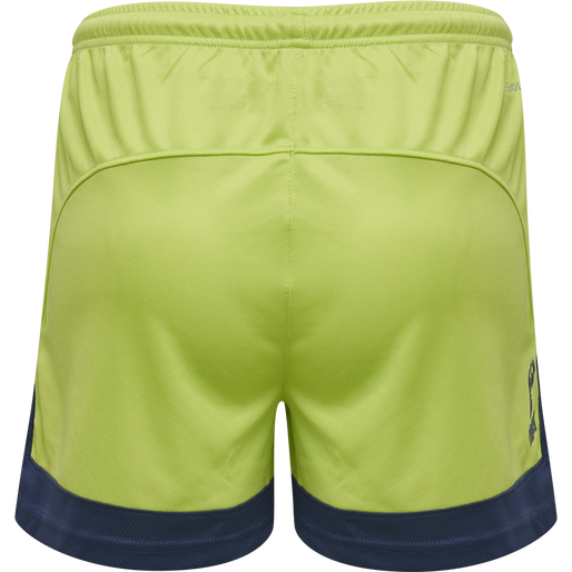 hmlLEAD WOMENS POLY SHORTS, LIME PUNCH, packshot