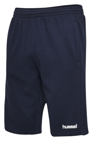 HUMMEL GO COTTON BERMUDA SHORTS, MARINE, packshot