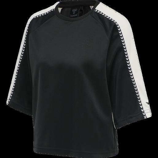 HMLONELLA T-SHIRT S/S TEE, BLACK, packshot