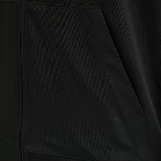 hmlACTION ZIP HOODIE, BLACK/FIESTA, packshot
