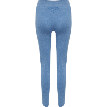 hmlCI SEAMLESS MID WAIST TIGHTS, MYKONOS BLUE MELANGE, packshot