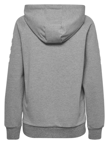 HUMMEL GO COTTON HOODIE WOMAN, GREY MELANGE, packshot