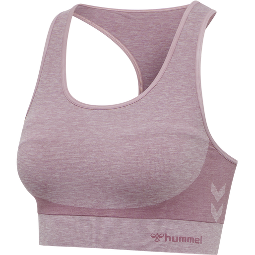 hmlROSA SEAMLESS SPORTS TOP, DUSKY ORCHID MELANGE, packshot