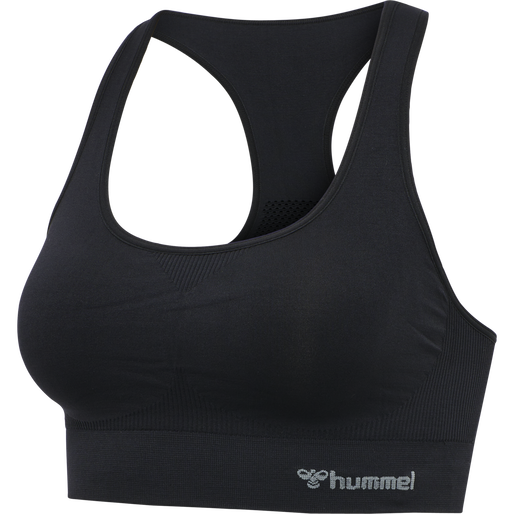 hmlTIF SEAMLESS SPORTS TOP, BLACK, packshot