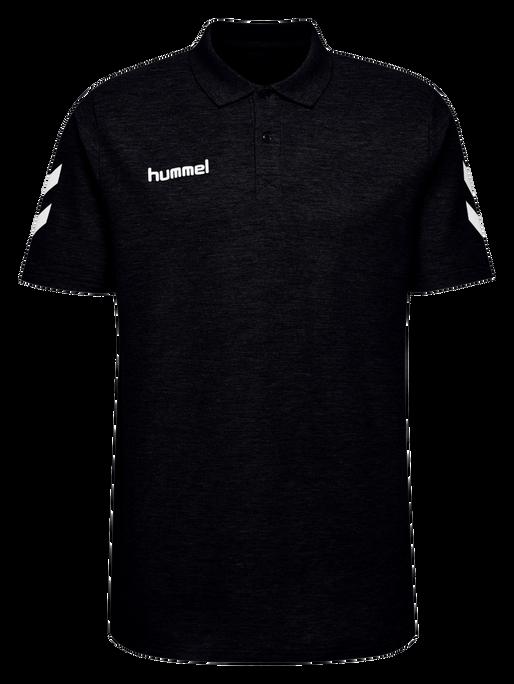 HUMMEL GO COTTON POLO, BLACK, packshot