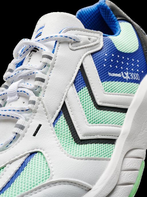 REACH LX 3000, WHITE/BLUE/GREEN ASH, packshot