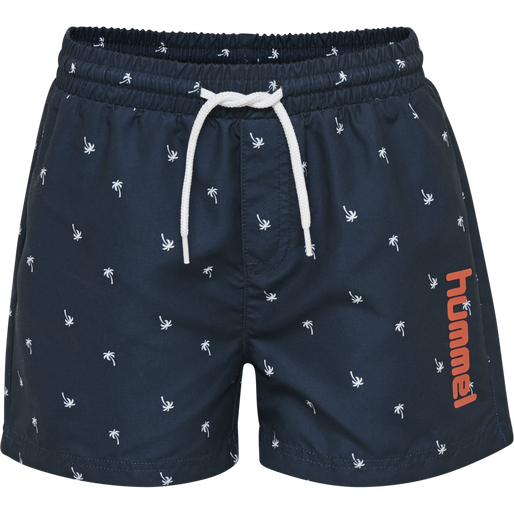 hmlCHILL BOARD SHORTS, BLACK IRIS/BRIGHT WHITE, packshot