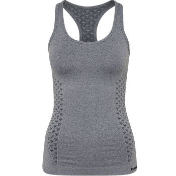CLASSIC BEE CI SEAMLESS TOP, OMBRE BLUE MELANGE, packshot