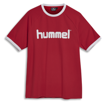 hmlBAY T-SHIRT S/S, TRUE RED, packshot