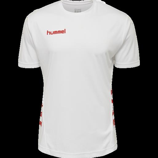 hmlPROMO KIDS DUO SET, WHITE/TRUE RED, packshot