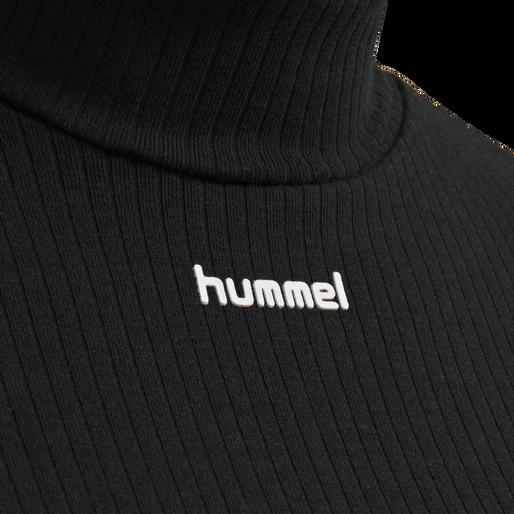 hmlCAROLINE RIB TURTLENECK S/S, BLACK, packshot