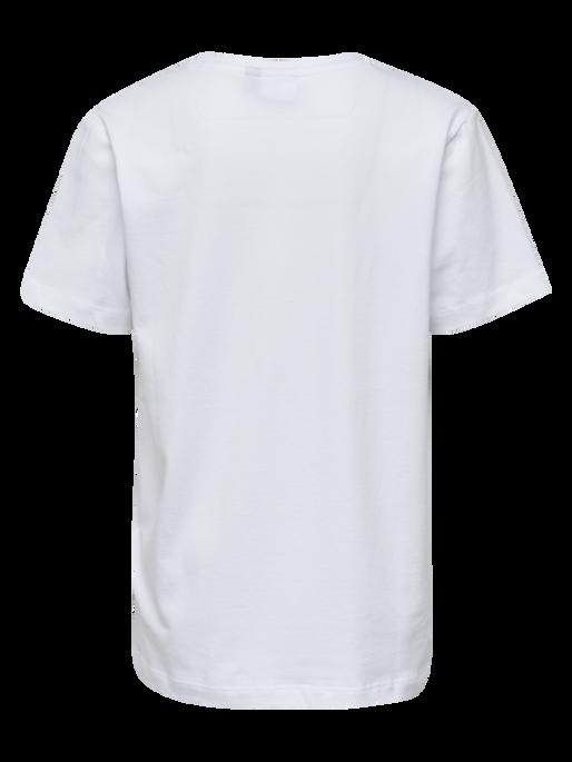 HMLPALM T-SHIRT S/S, WHITE, packshot