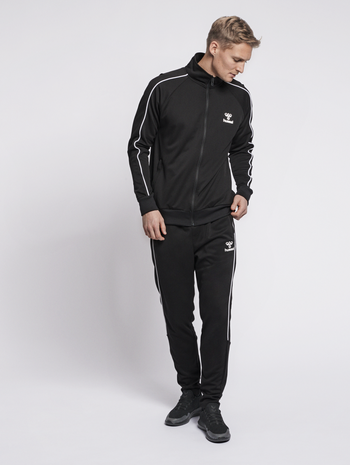 hmlARNE ZIP JACKET, BLACK, model