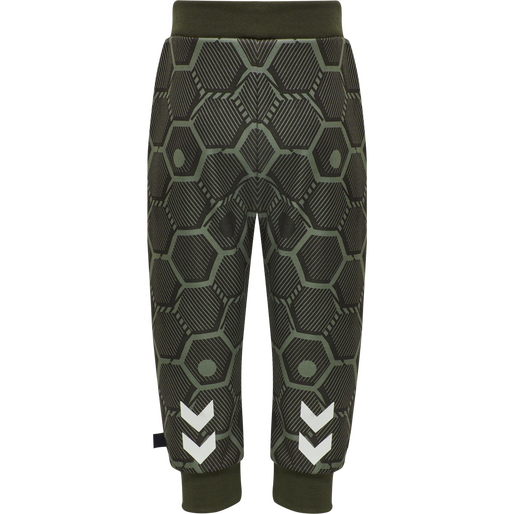 hmlJEMAINE PANTS, DEEP LICHEN GREEN, packshot
