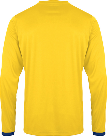 CORE LS POLY JERSEY, SPORTS YELLOW/TRUE BLUE, packshot