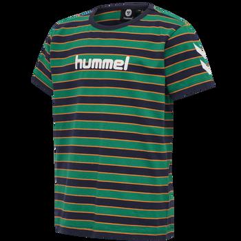 hmlAJAX T-SHIRT S/S, ULTRAMARINE GREEN, packshot