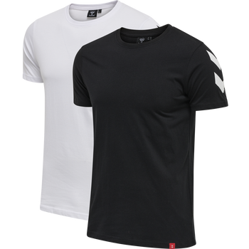 hmlLEGACY 2-PACK CHEVRON T-SHIRT, BLACK/WHITE, packshot