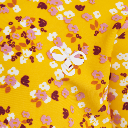 hmlBEACH SWIM TEE L/S, GOLDEN ROD, packshot