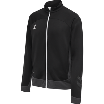hmlLEAD POLY ZIP JACKET, BLACK, packshot