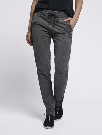 hmlNICA ENGINEERED PANTS, DARK GREY MELANGE, model