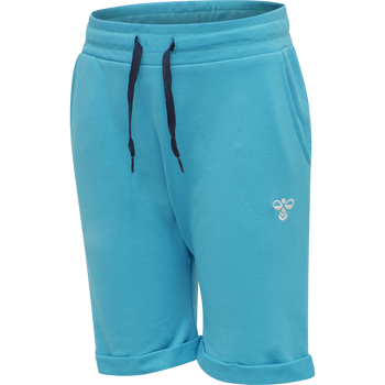 hmlFLICKER SHORTS, SCUBA BLUE, packshot