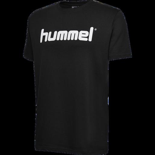 HUMMEL GO COTTON LOGO T-SHIRT S/S, BLACK, packshot