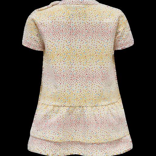 hmlALBA DRESS S/S, WHITE ASPARAGUS, packshot