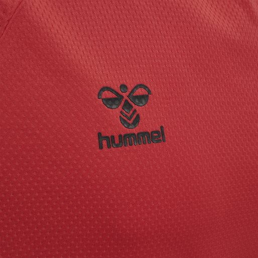 hmlLEAD S/S POLY JERSEY, TRUE RED, packshot