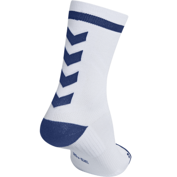ELITE INDOOR SOCK LOW, WHITE/TRUE BLUE, packshot