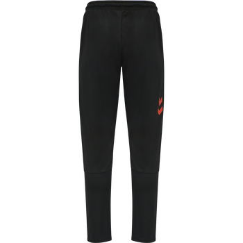 hmlACTION TRAINING PANTS, BLACK/FIESTA, packshot