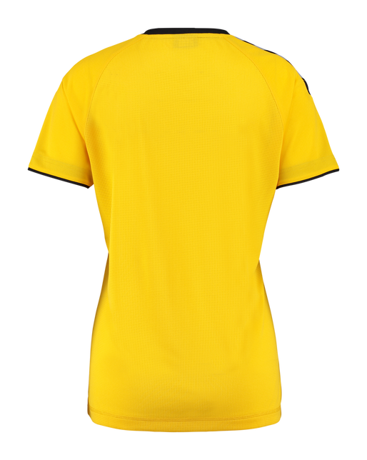 AUTHENTIC CHARGE SS POLY JERSEY WOMAN, SPORTS YELLOW, packshot