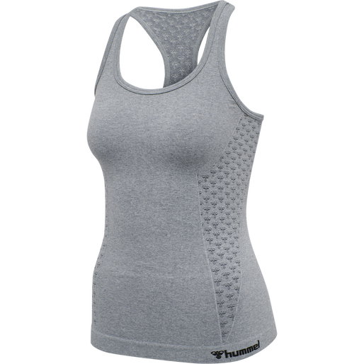 hmlCI SEAMLESS TOP, GREY MELANGE, packshot