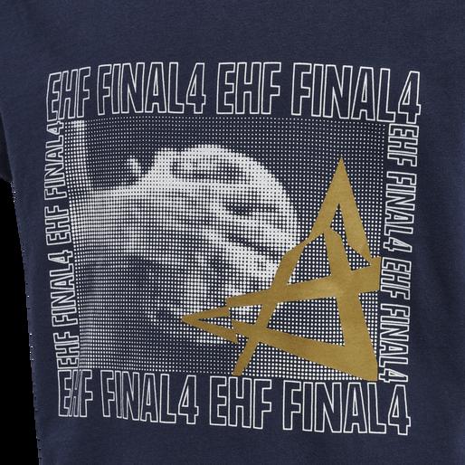 EHF CL FINAL4 T-SHIRT S/S, MARINE, packshot