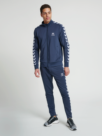 hmlNATHAN 2.0 ZIP JACKET, BLUE NIGHTS, model