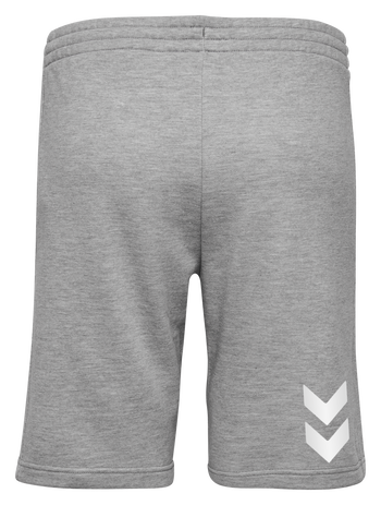 HUMMEL GO COTTON BERMUDA SHORTS WOMAN, GREY MELANGE, packshot