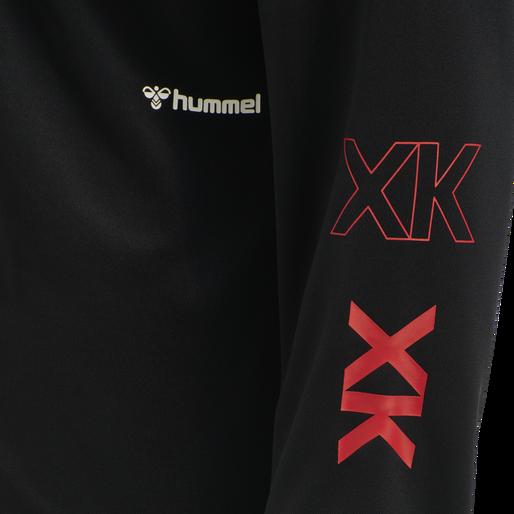 hmlPRO XK CREW NECK, CAVIAR/MARSHMALLOW, packshot