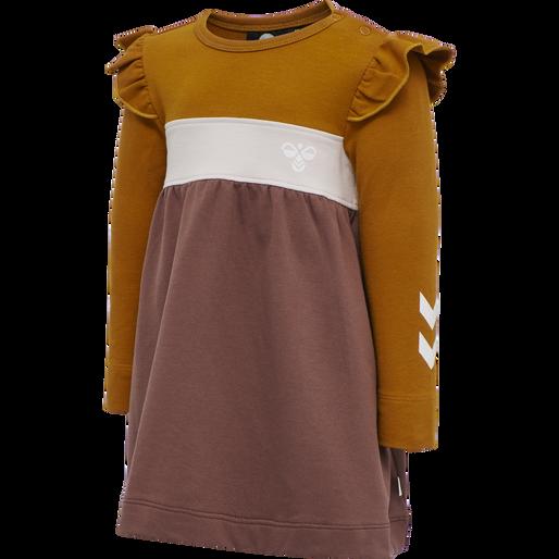hmlVICTORIA DRESS L/S, MARRON, packshot