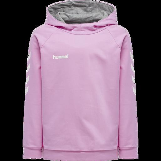 HUMMEL GO KIDS COTTON HOODIE, ORCHID, packshot