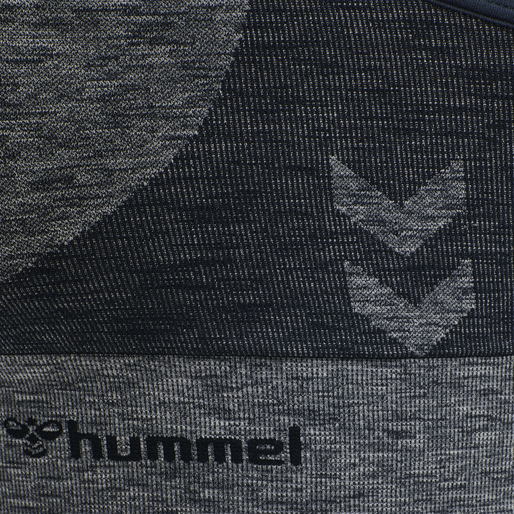 hmlROSA SEAMLESS SPORTS TOP, BLUE NIGHTS MELANGE, packshot