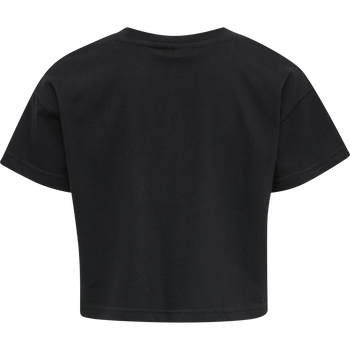 hmlCLARE CROPPED T-SHIRT S/S, BLACK, packshot