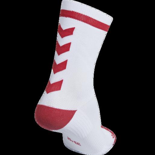 ELITE INDOOR SOCK LOW, WHITE/TRUE RED, packshot
