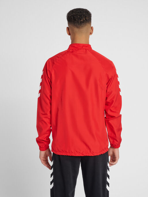 CORE MICRO ZIP JACKET, TRUE RED, model