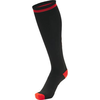 ELITE INDOOR SOCK HIGH, BLACK/DIVA PINK, packshot