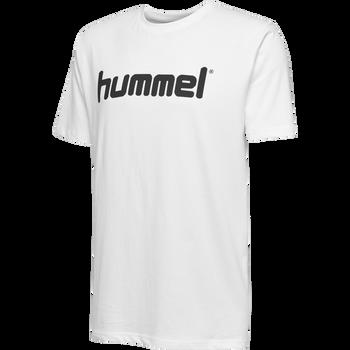 HUMMEL GO KIDS COTTON LOGO T-SHIRT S/S, WHITE, packshot