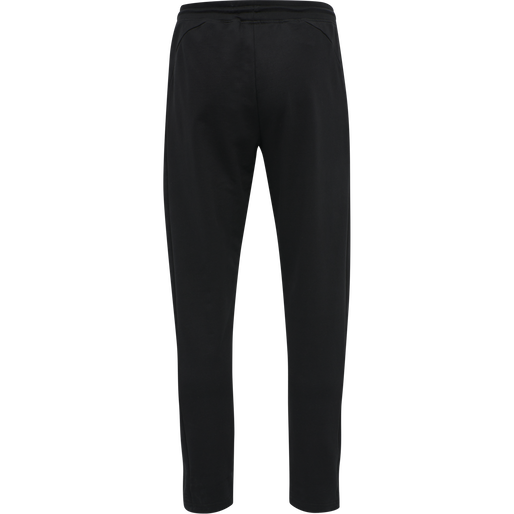 hmlACTION COTTON PANTS, BLACK/FIESTA, packshot