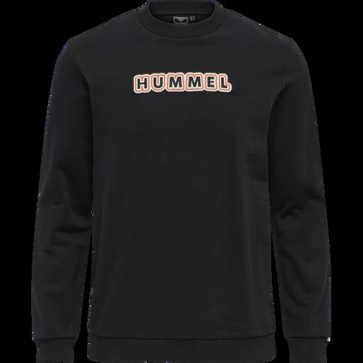 hmlTEMPO SWEATSHIRT, BLACK, packshot