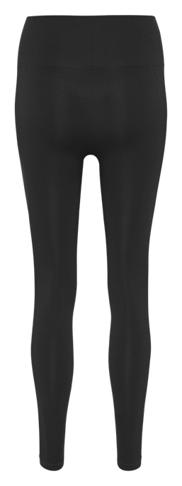 hmlTIF HIGH WAIST SEAMLESS TIGHTS, BLACK, packshot