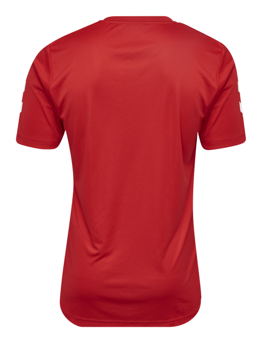 CORE POLYESTER TEE, TRUE RED, packshot