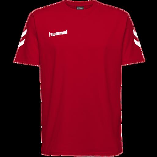HUMMEL GO KIDS COTTON T-SHIRT S/S, TRUE RED, packshot
